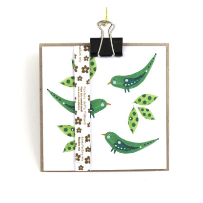 kort gröna fåglar