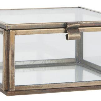 Glaslåda kvadrat