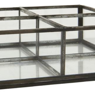 Glaslåda, fyra fack