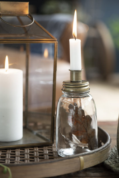 Ljushållare i glas