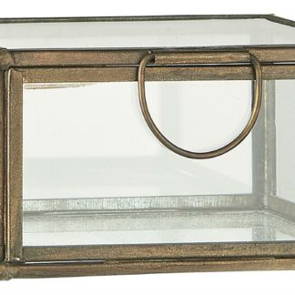 Glaslåda kvadratisk