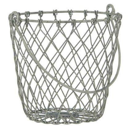 Trådkorg med handtag zink