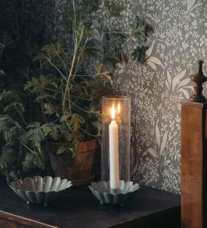 Ljusstake med glasrör grön - Strömshaga