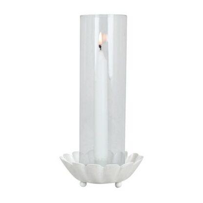 Ljusstake med glasrör vit