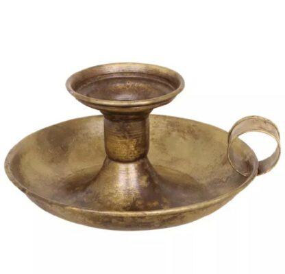 Ljusstake Olle antik brun
