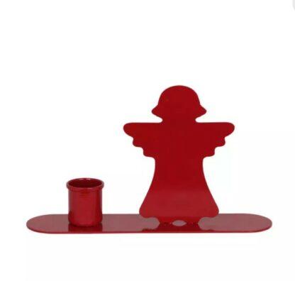 Röd ljusstake ängel - Strömshaga