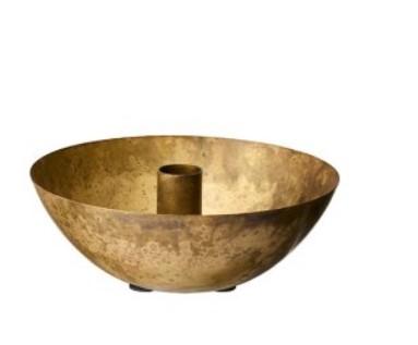 Ljusstake antik mässing - Wikholm Form