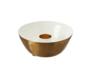 Ljusstake vit/guld - Wikholm Form